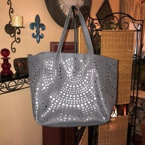 Handbags - Grey & Silver Overnight Bag or Shoulder Bag